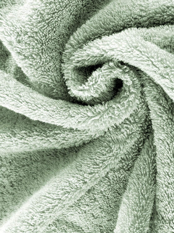 calidad pr/émium herzbach home Juego de 2 toallas de sauna de lujo 600 g//m/² 86 x 200 cm verde oc/éano 100/% algod/ón egipcio