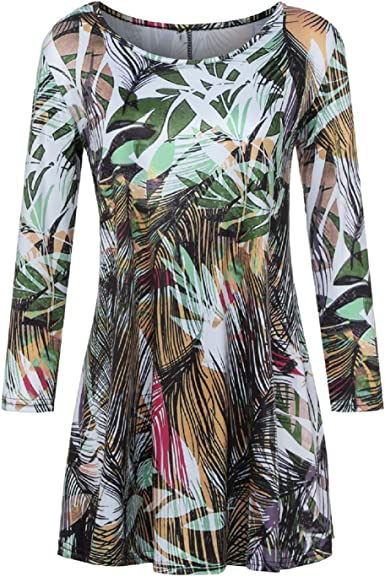 Womens Pink Skull Flowers Ladies Oversized Turn Up Sleeve Long Baggy Tunic Dress