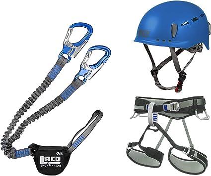 LACD Klettersteigset Pro Evo Blue Via Ferrata Set Gurt Start Gr/ö/ße M