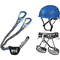 LACD Klettersteigset Pro Blue + Klettergurt Start Blue Größe L + Helm Protector 2.0 Blue