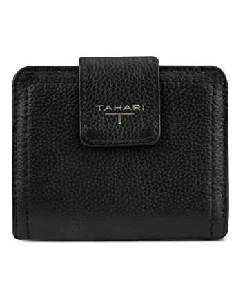7ee8d8f43d12 Amazon.com: Tahari womens Small TAB Wallet, Black, One Size: Clothing