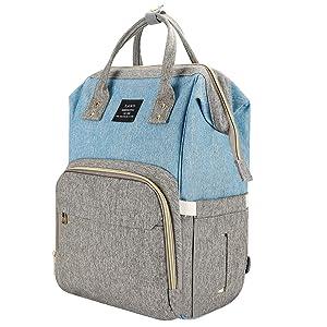 Land Diaper Bag Organizer Large Capacity Newborn Baby Bags Unisex Waterproof Travel Backpack for Mom, Dad, Women and Girls