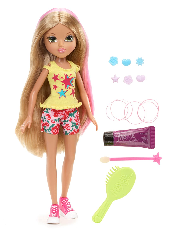 amazon com moxie girlz sunkissed magic hair doll monet toys u0026 games