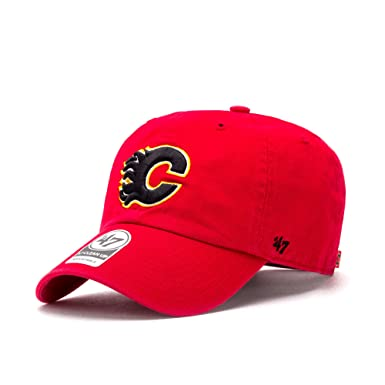 47 Brand Adjustable Cap Clean UP Calgary Flames red