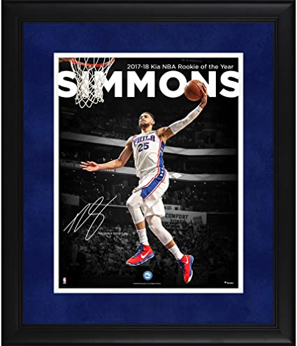 Ben Simmons Philadelphia 76ers Framed 11 quot  x 14 quot  2018 NBA Rookie  of the Year c2edb2856