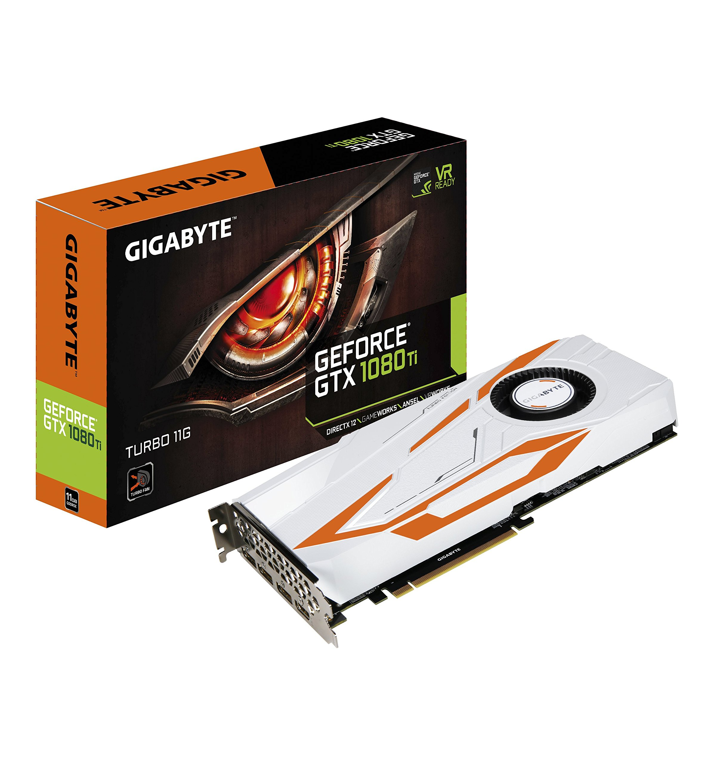 Gigabyte GV-N108TTURBO-11GD AORUS GeForce GTX 1080 Ti Turbo 11G Graphic Cards