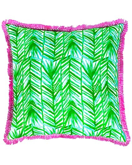 Amazon Lilly Pulitzer Painted Palm Large Pillow Home Kitchen Delectable Lilly Pulitzer Decorative Pillows