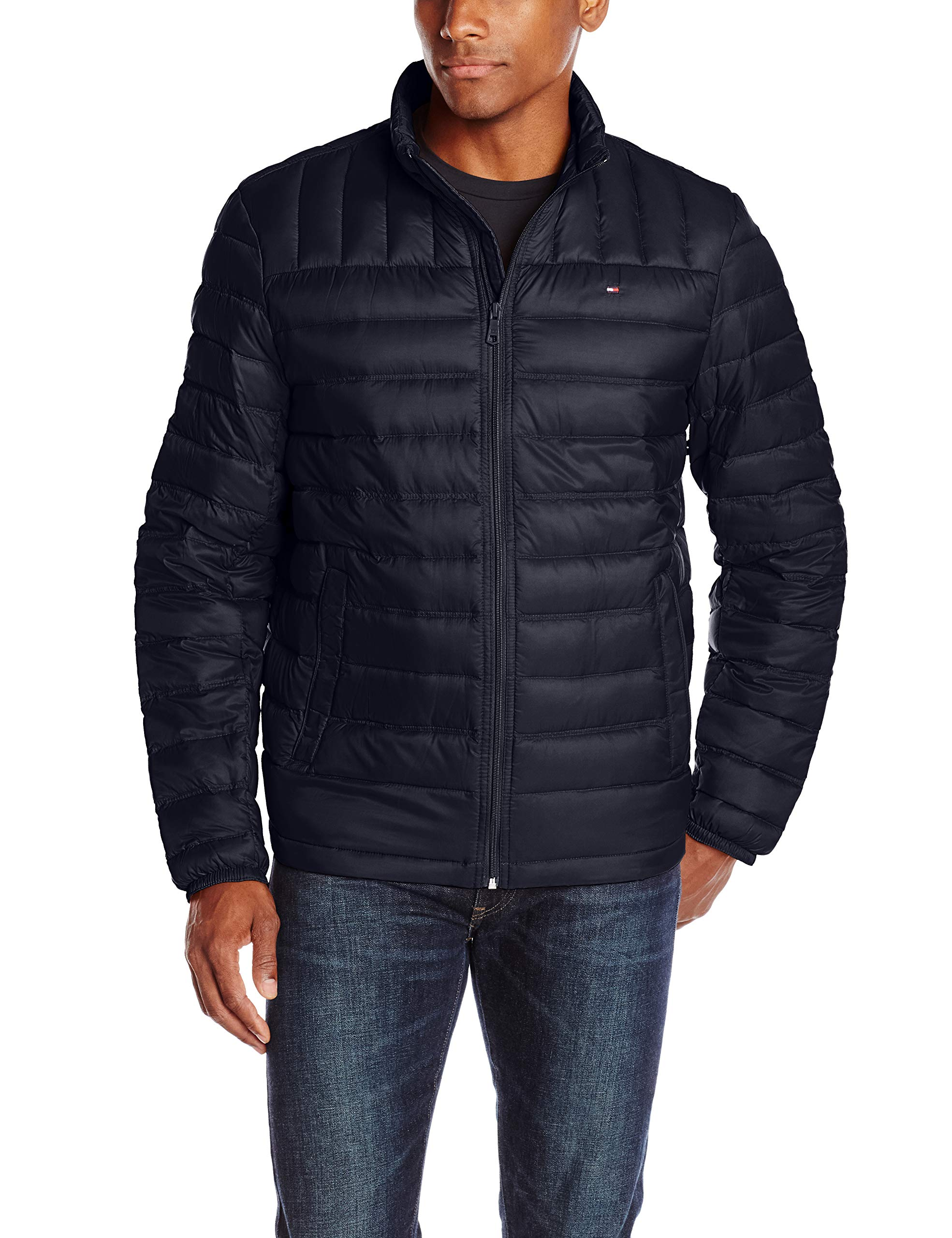 Tommy Hilfiger Men's Packable Down Jacket (Regular and Big & Tall Sizes), Midnight, X-Large