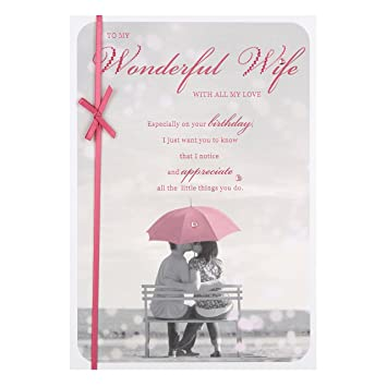 Hallmark wife birthday card love always medium amazon hallmark wife birthday card quotlove alwaysquot medium m4hsunfo