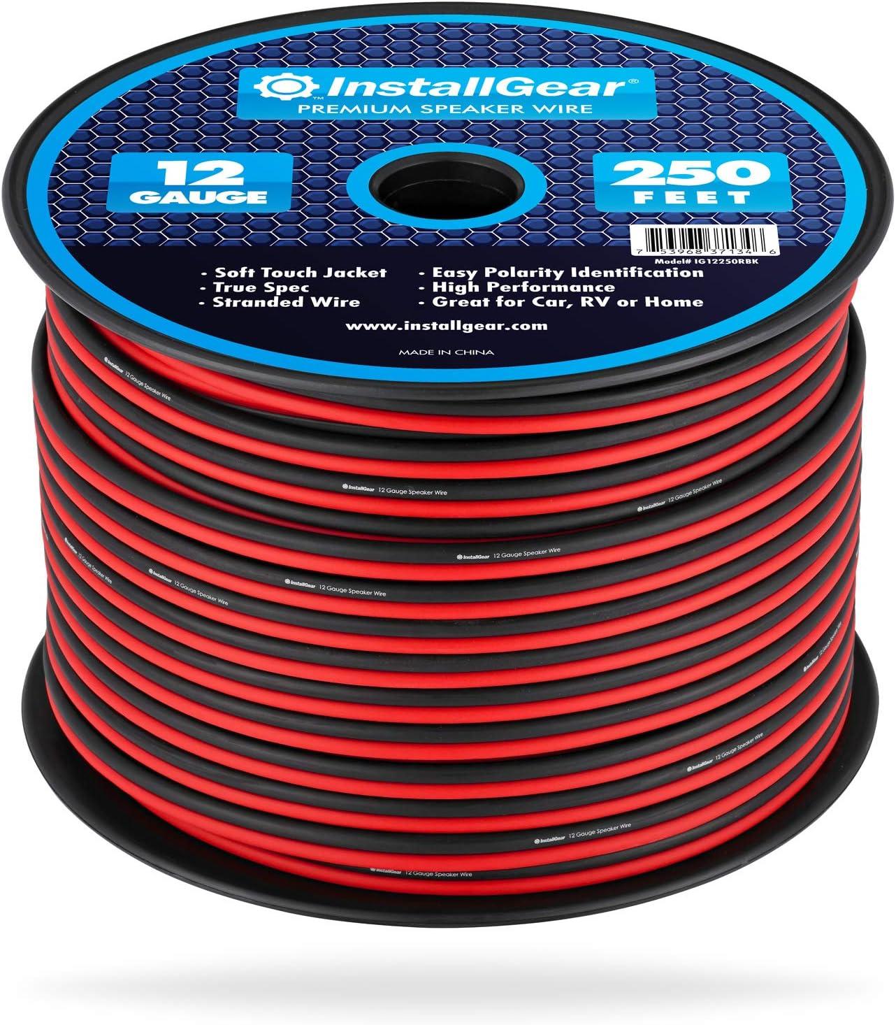 InstallGear 9 Gauge Speaker Wire (9-feet - Red/Black)