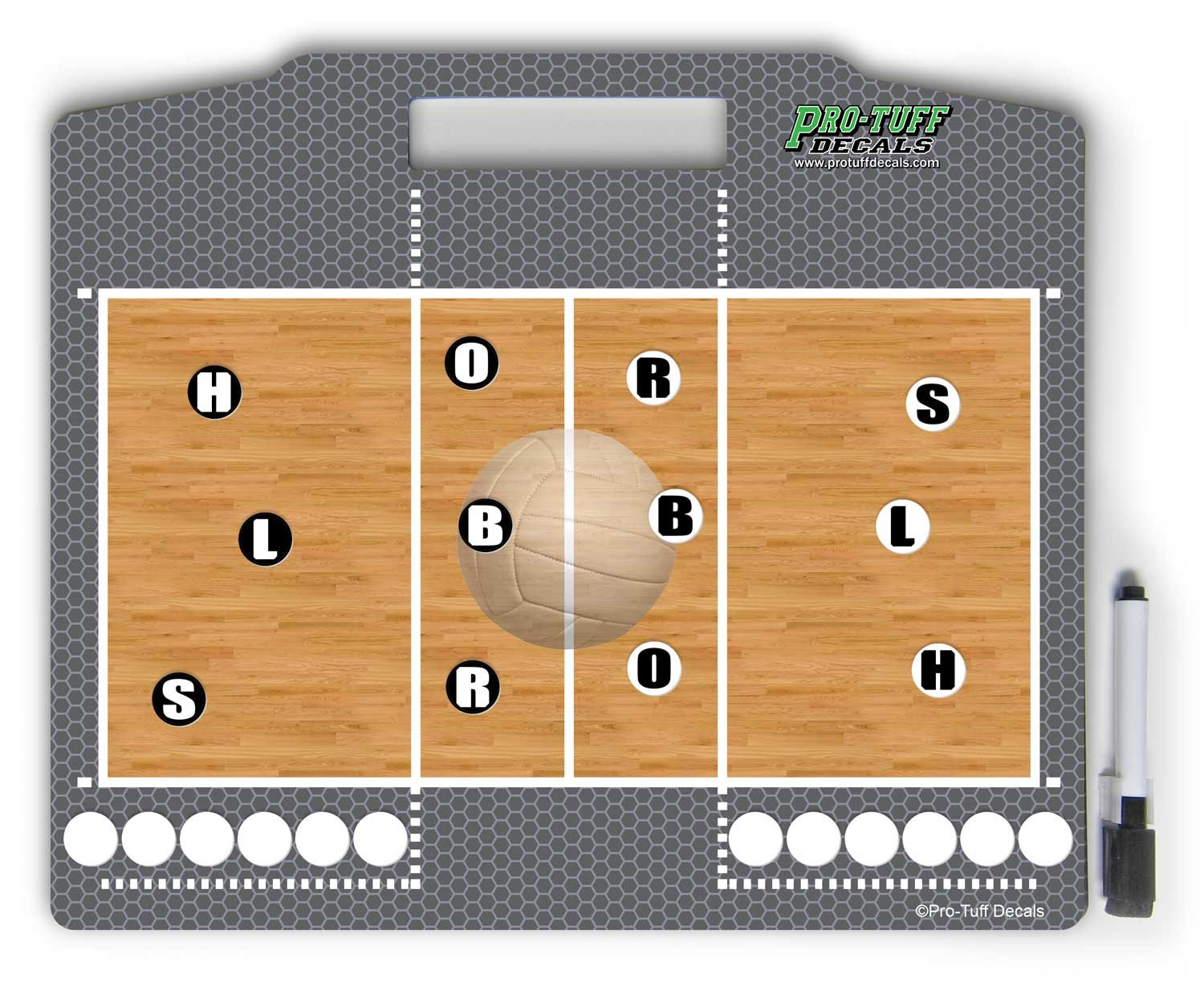 Pro-Tuff Decals Coaches Helper Magnetic Volleyball Board for plays and court position Volleyball Magnet Board Volleyball Play Board