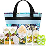 Gift Basket for Women, Mothers Day Gifts, Coconut Spa Gift Sets, 10Pc Bath Gifts for Women, Beauty Bath Set Includes Shower G
