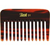 Roots Hair Combs with Wide Teeth for Wavy/ Curly Thick Short Hair and Travel (Brown, 31)