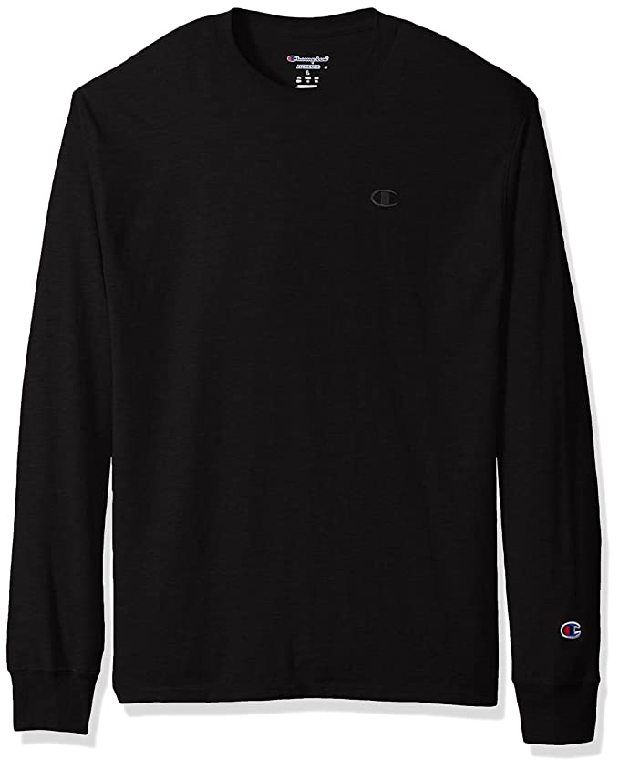 Champion Men's Classic Jersey Long Sleeve T-Shirt, Black, S