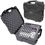 "CASEMATIX 17"" Hard Shell Audio Mixer Travel Case Compatible with Behringer Xenyx X1204USB, 1204USB, QX1204USB, Q1204USB…"