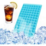 Ice Ball Maker - Oumers Mini Ice Cube Trays Ice Cube Molds, 96pcs 0.7 Inch Diamond Ice Ball Mold Small Ice Diamond, For Whiskey or Cocktail Blue