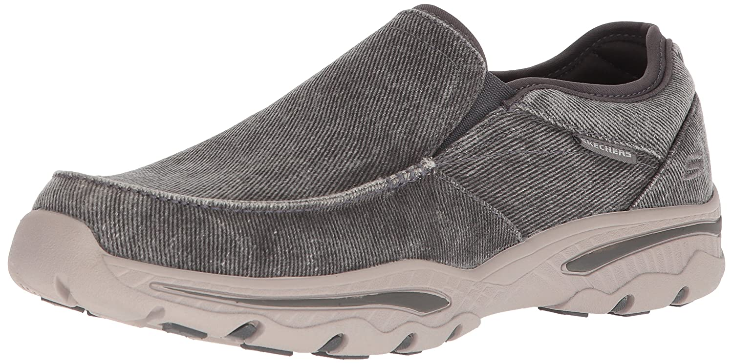 Skechers Creston-Moseco, Mocasines para Hombre 8 D(M) US|Carbón