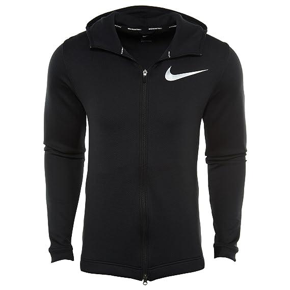 b35e99371e28 Nike Mens Showtime Therma Flex Basketball Hoodie Black White 856438-010  Size Medium  Amazon.co.uk  Clothing