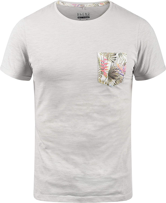 BLEND Florens Camiseta Básica De Manga Corta con Estampado para Hombre con con Cuello Redondo con Gráfico: Amazon.es: Ropa y accesorios