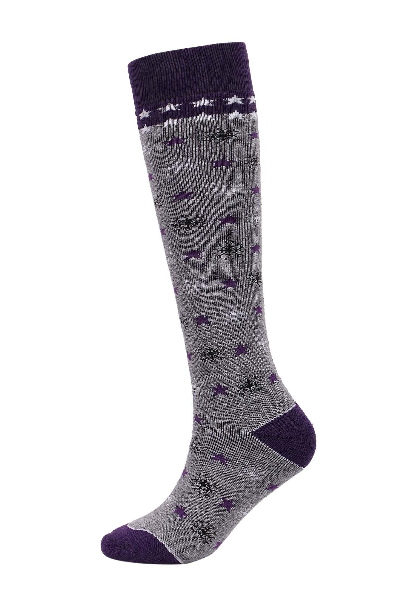 Andorra Women's Air Cushioned Merino Wool Ski Socks Full Terry Ski Socks, 8-11.5