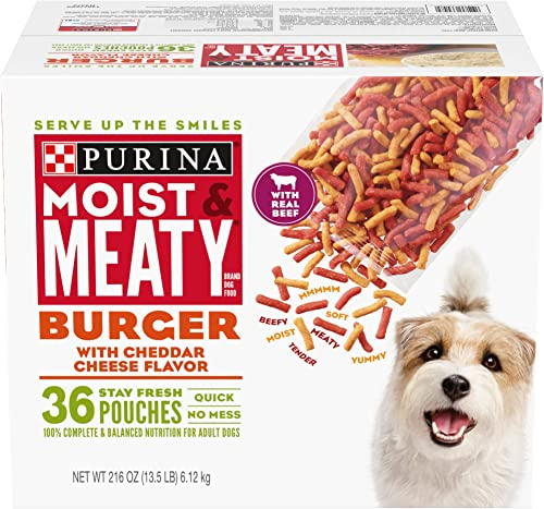 Purina Moist Meaty Burger with Cheddar Cheese Flavor Adult Dry Dog Food