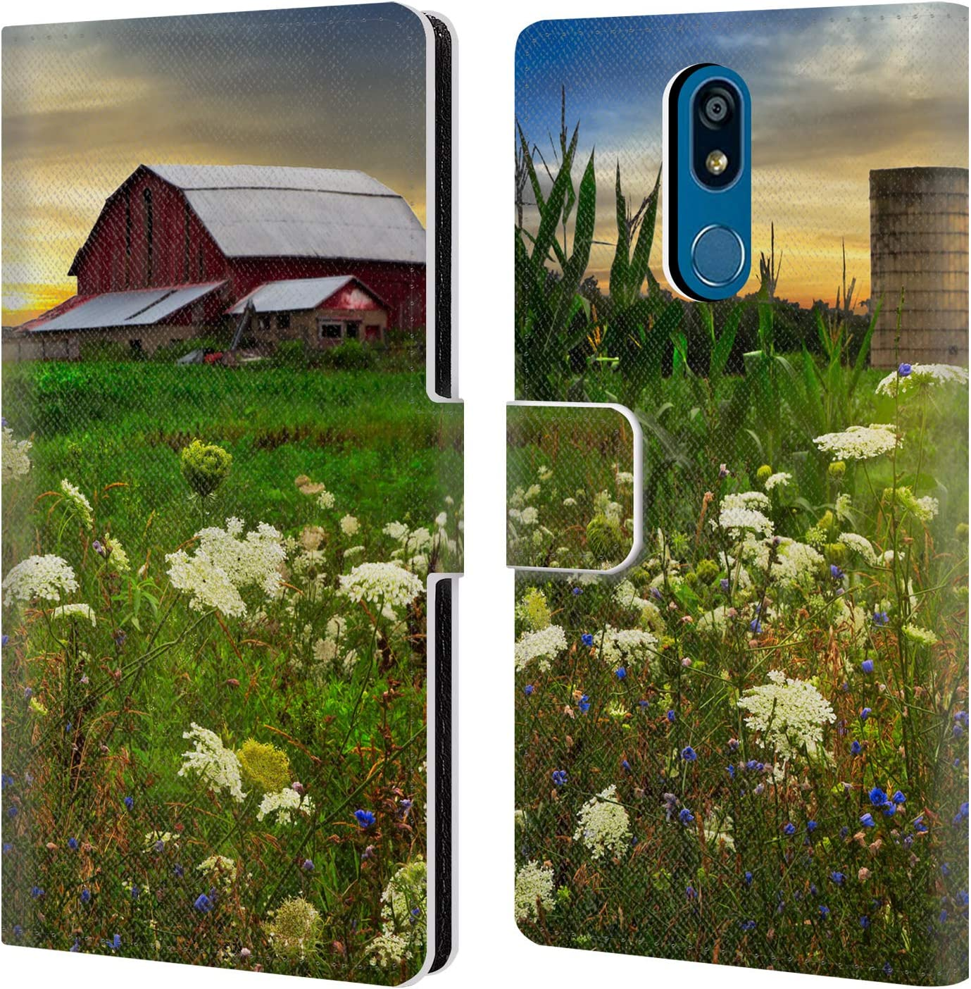 Official Celebrate Life Gallery Sunset Lace Pastures Florals Leather Book Wallet Case Cover Compatible for LG K40 / K12 Plus