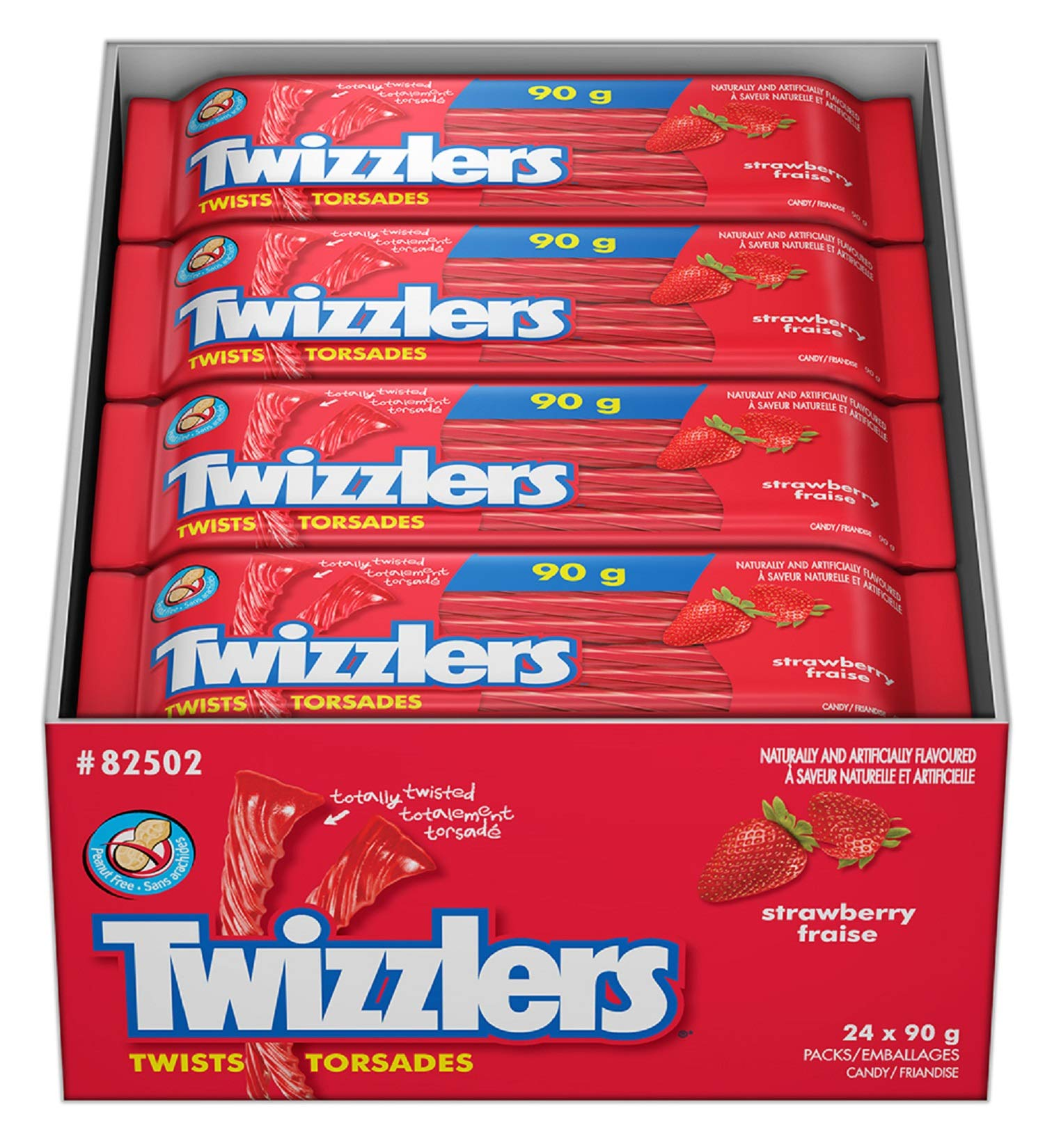 CDM product TWIZZLERS Licorice Candy, Strawberry, 24 Count big image
