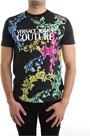 VERSACE JEANS COUTURE Men's T Shirt Kniited Tank Top, Black