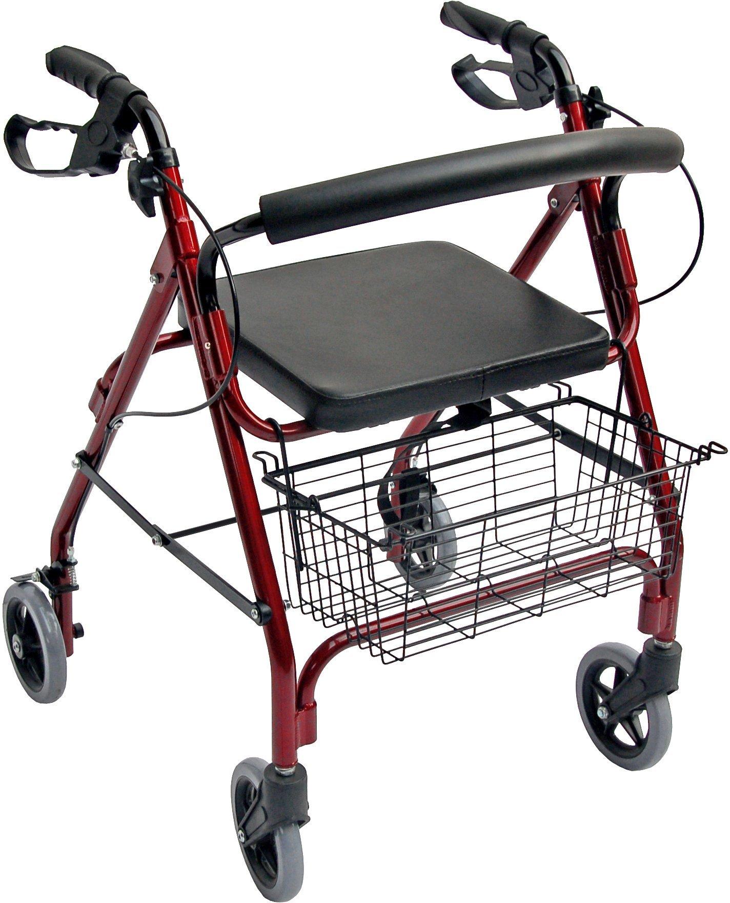 Accela 4 Wheeled Lightweight Rollator