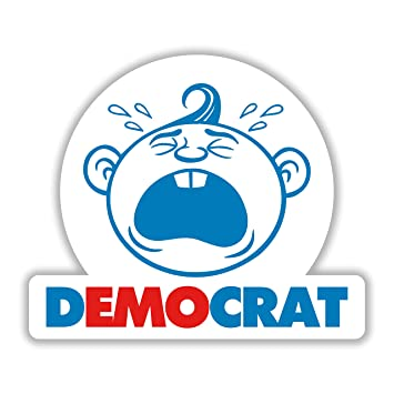Democrat emo cry baby political democrat baby bumper sticker