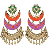 The Jewelbox Designer Gold Plated Large Chandelier Earring For Women