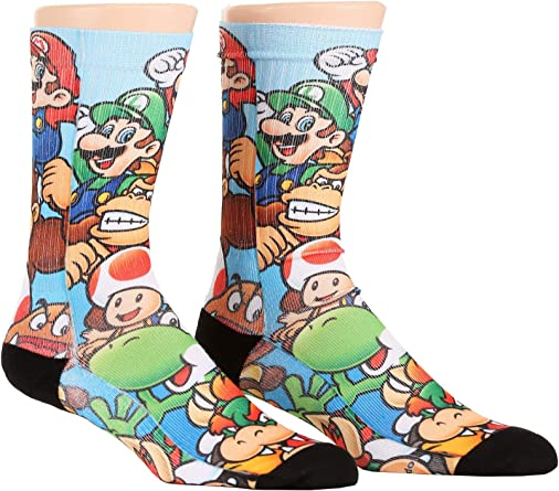 Bioworld Merchandising / Independent Sales Mario Brothers Stacked Characters Sublimated Socks Standard: Amazon.es: Ropa y accesorios