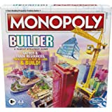 Monopoly Builder Board Game, Strategy Game, Family Game, Games for Kids, Fun Game to Play, Family Board Games, Ages 8 and up
