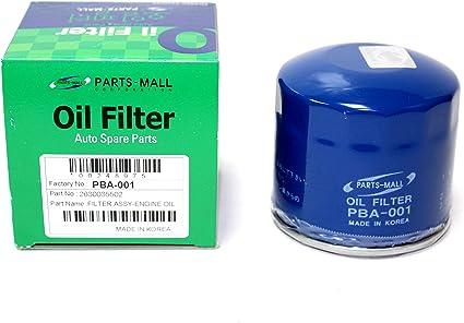 Filtro de aceite para Hyunda Accent Elant Excel Sonata parte: 2630035502 2630035503 (Pack 3 unidades): Amazon.es: Coche y moto
