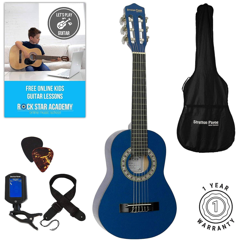 Akustische Gitarre Paket 1/4 Grö ß e (31 'Zoll) Alter 3 bis 6 klassischen Nylonsaiten Pack pink Stretton Payne SP14