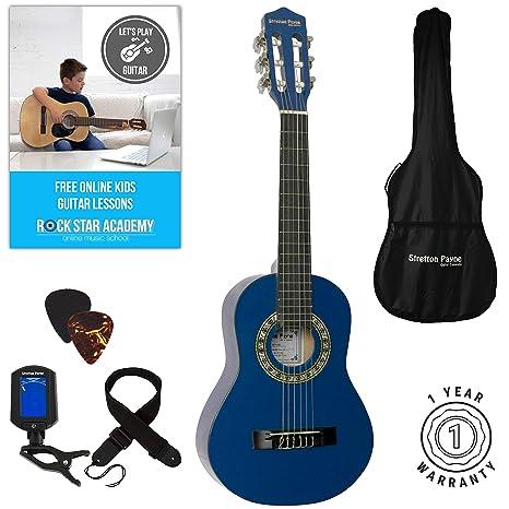 Guitarra clásica para niños, 1/4 de tamaño, 78,7 cm,