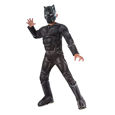 Rubie's Costume Captain America: Civil War Deluxe Black Panther Costume, Small: Clothing