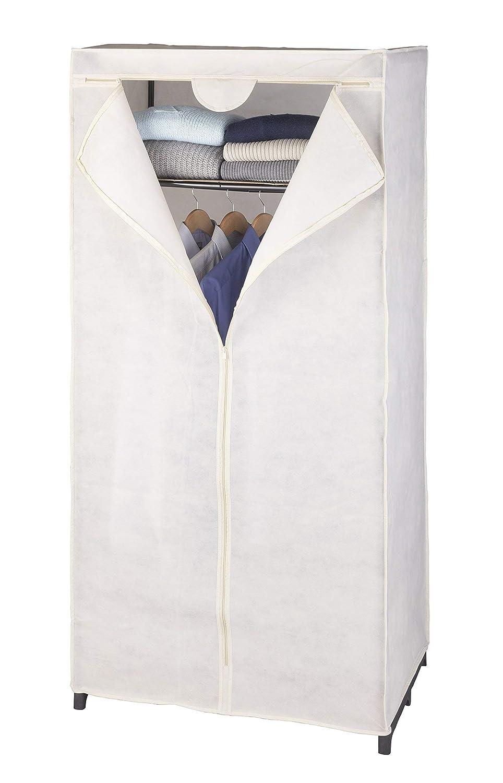 Wenko, Armadio per Vestiti in Fibra di Polipropilene con ripiano Interno, 75 x 160 x 50 cm, Colore: Bianco