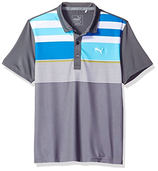 45c3af3c2cd13 PUMA Golf Kids Boy's Road Map Asymmetrical Polo JR (Big Kids)