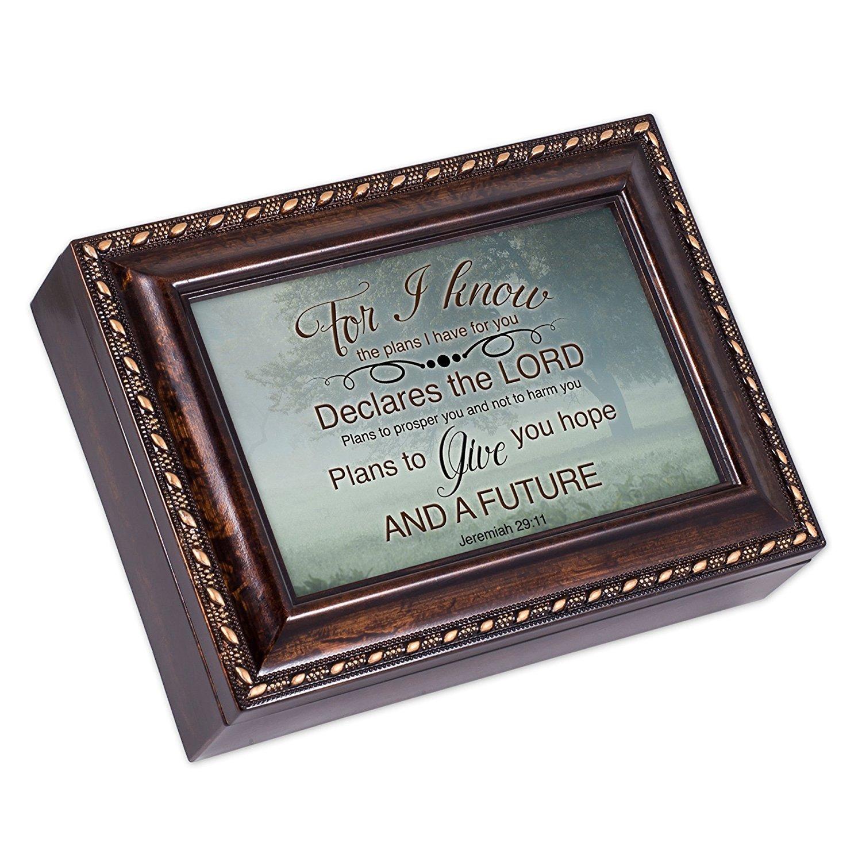 【驚きの値段】 Misty MeadowツリーJeremiah 29 Amazing : Grace 11 Burlwood仕上げジュエリー音楽ボックスPlays Amazing Grace 29 B01G7OPMXM, 農家の店 みのり:cb31af58 --- arcego.dominiotemporario.com