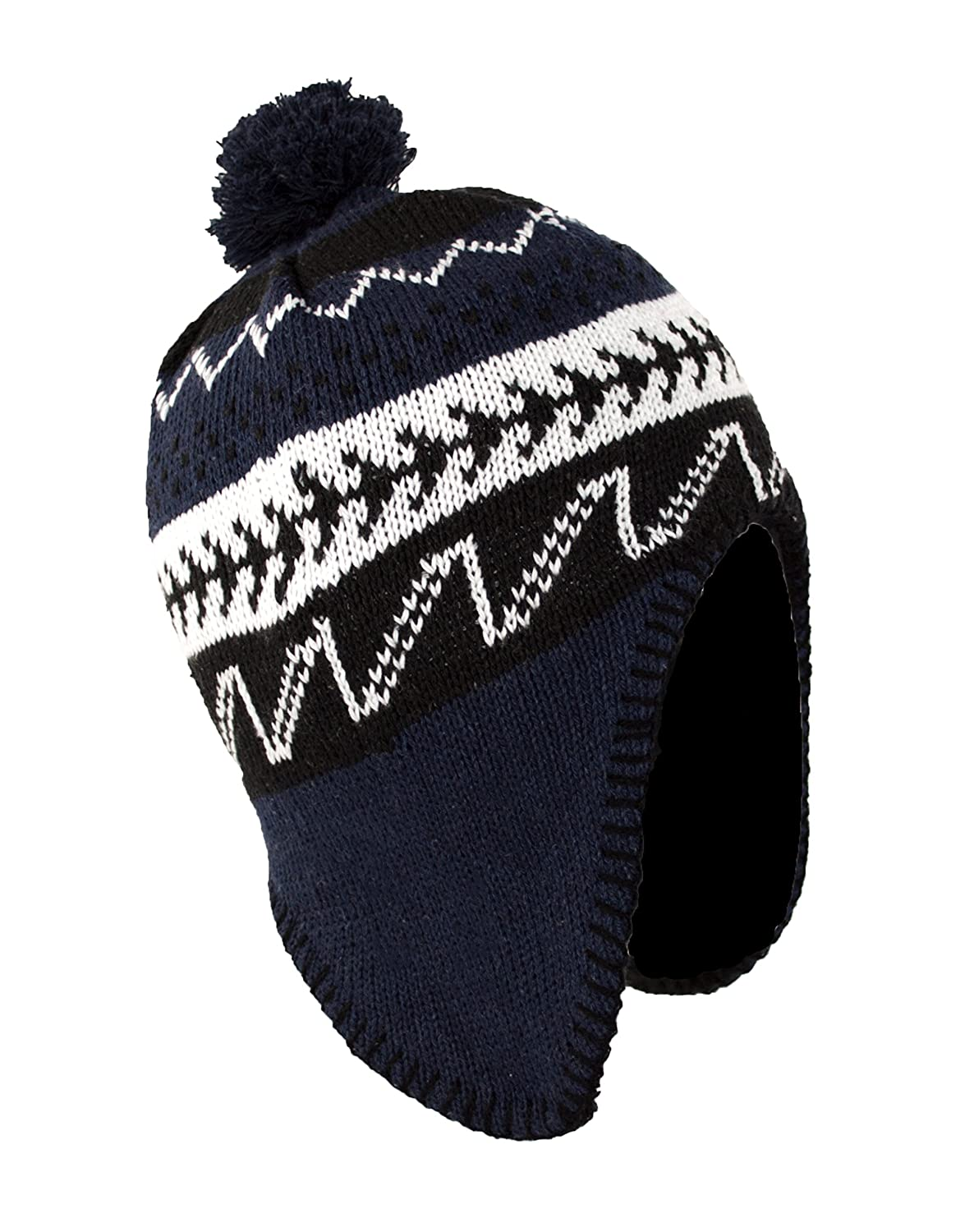 7a91ddae944 Mens Fleece Beanie Pattern - Parchment N Lead
