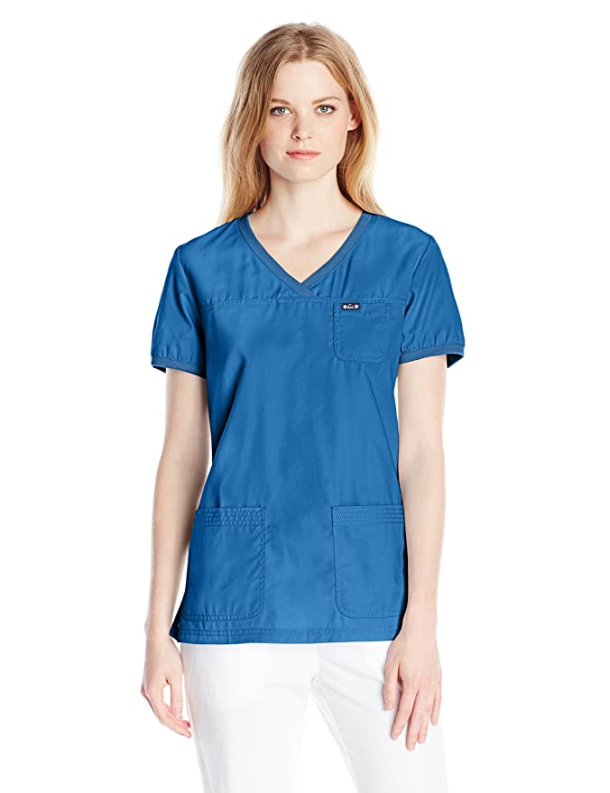 Koi Mujer camisa medica ultra cómodo- Colores-Blanco/Negro/Rosa//Frambuesa/Azul- Profesiones-Dentista/Enfermera/Veterinario/ Medico/ Sanitaria: Amazon.es: ...