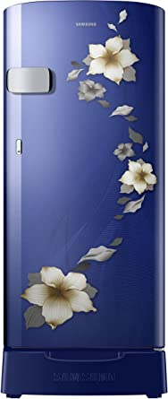 Samsung 192 L 2 Star Direct Cool Single Door Refrigerator(RR19N1Z22U2/HL, RR19N2Z22U2/NL, Star Flower Blue, Base Stand with Drawer)