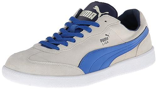 Puma Liga Suede Zapatillas Moda para Hombres Zapatos UK tamaños, Color Beige, Talla 40: Amazon.es: Zapatos y complementos