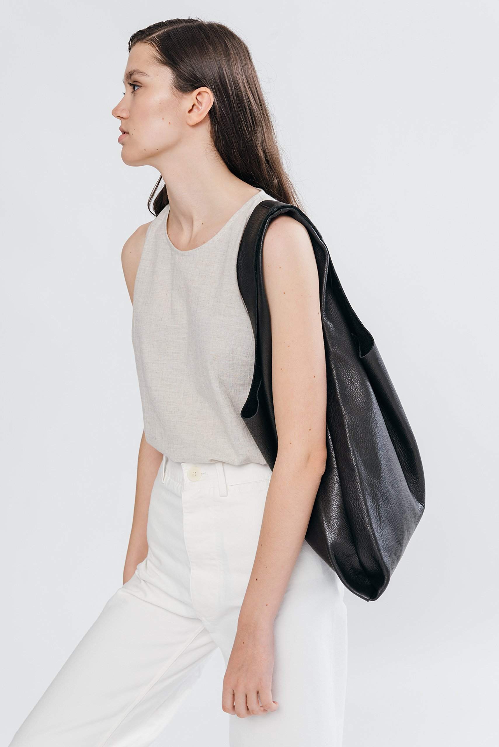 BAGGU Leather Bag - Black by BAGGU (Image #2)