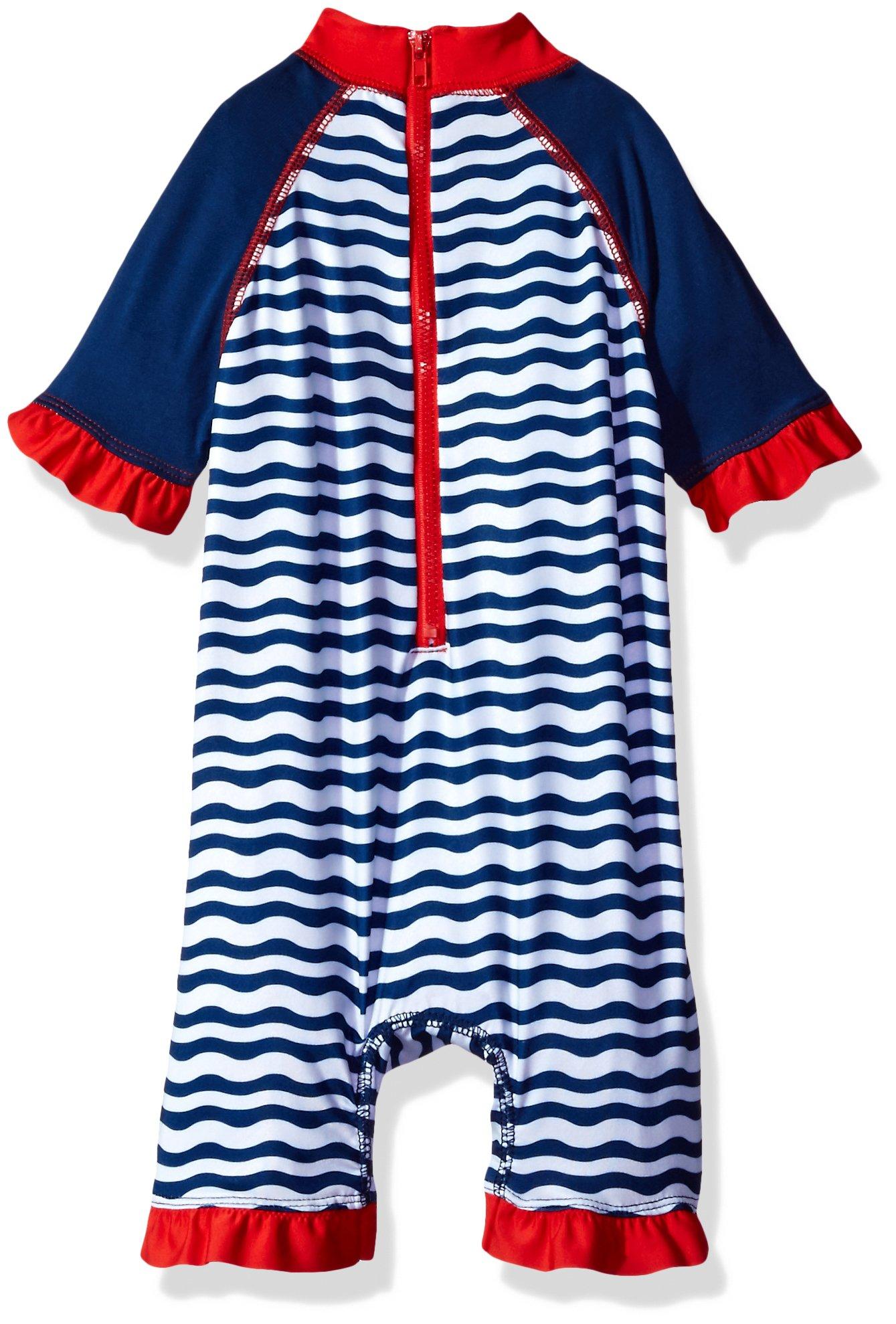 e18c9e1b613df Wippette Baby Girls' Whale W/Waves 1 Pc Swim, Navy, 9M 887310635715 ...