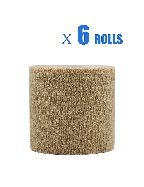 Risscly Lila 5cm cohesive Bandage,selbsthaftende fixierbinde verband bandage mullbinden selbsthaftend bandagen 12 Rollen