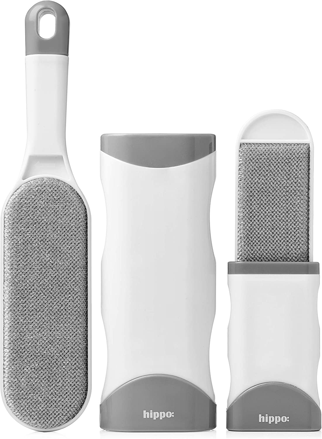 Pet Hair Remover - Reusable Lint Brush Pet Hair Remover with Easy Self Cleaning Base, Travel Size Included - Effective Dog & Cat Hair Remover for Clothing, Furniture, Couch - Fur & Lint Removal Brush