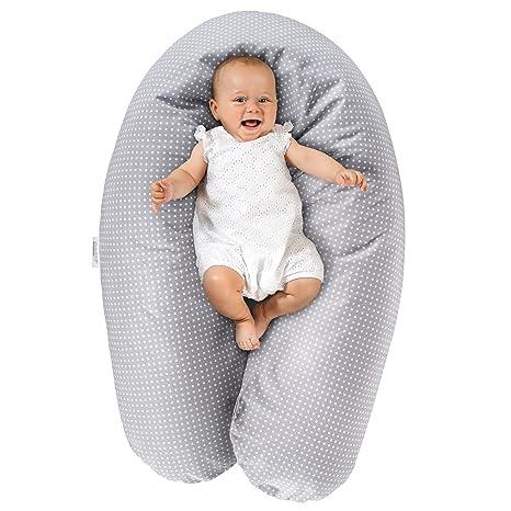 Theraline Cojín de lactancia y maternidad Dodo Pillow Premiun - 180 cm / Funda 100% algodón - Relleno: microperlas, sin sustancias nocivas, lavable a ...