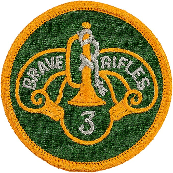 U S  Army 3rd Cavalry Division twill cloth embroidered patch new never issued
